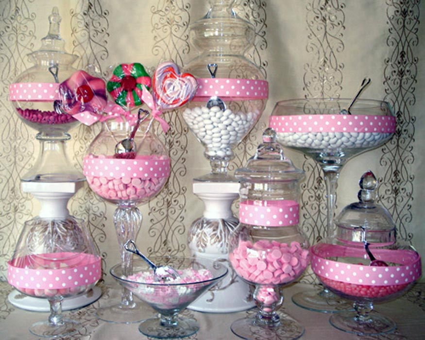 Candy Buffet Glass Jars Glass Decorating Ideas
