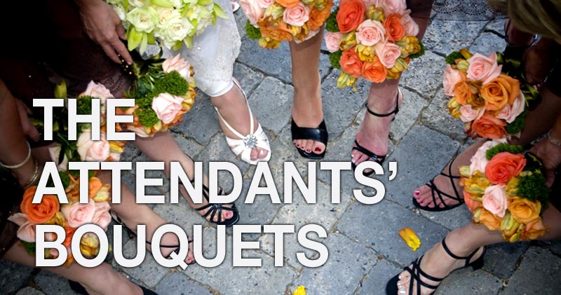 the attendants bouquets