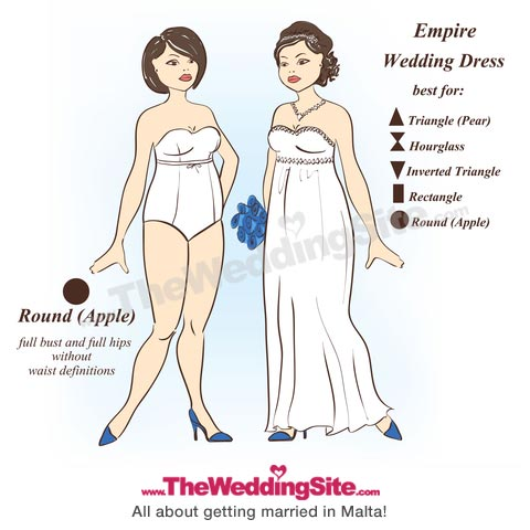 Best wedding dress styles for body type